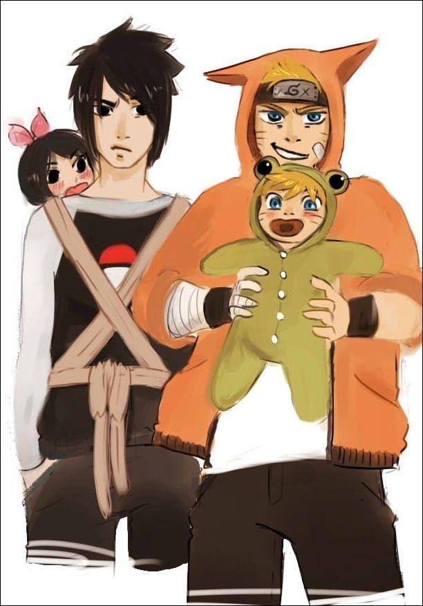 Naruto - Naruto, Sasuke, Bolt and Sarada