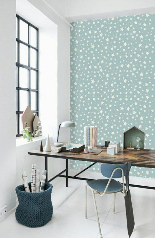 schöne tapeten moderne tapeten ideen design tapeten blau - schöne tapeten für wohnzimmer