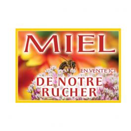 Panneau Miel Pvc 420 X 295 Mm Modele Abeille Fleur Blanche