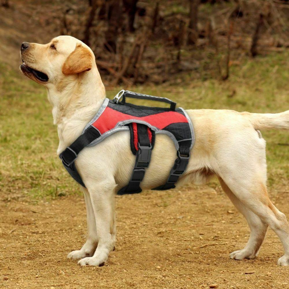 Reflective Dog Harness Pet Mesh Vest Halter Quick Control Handle
