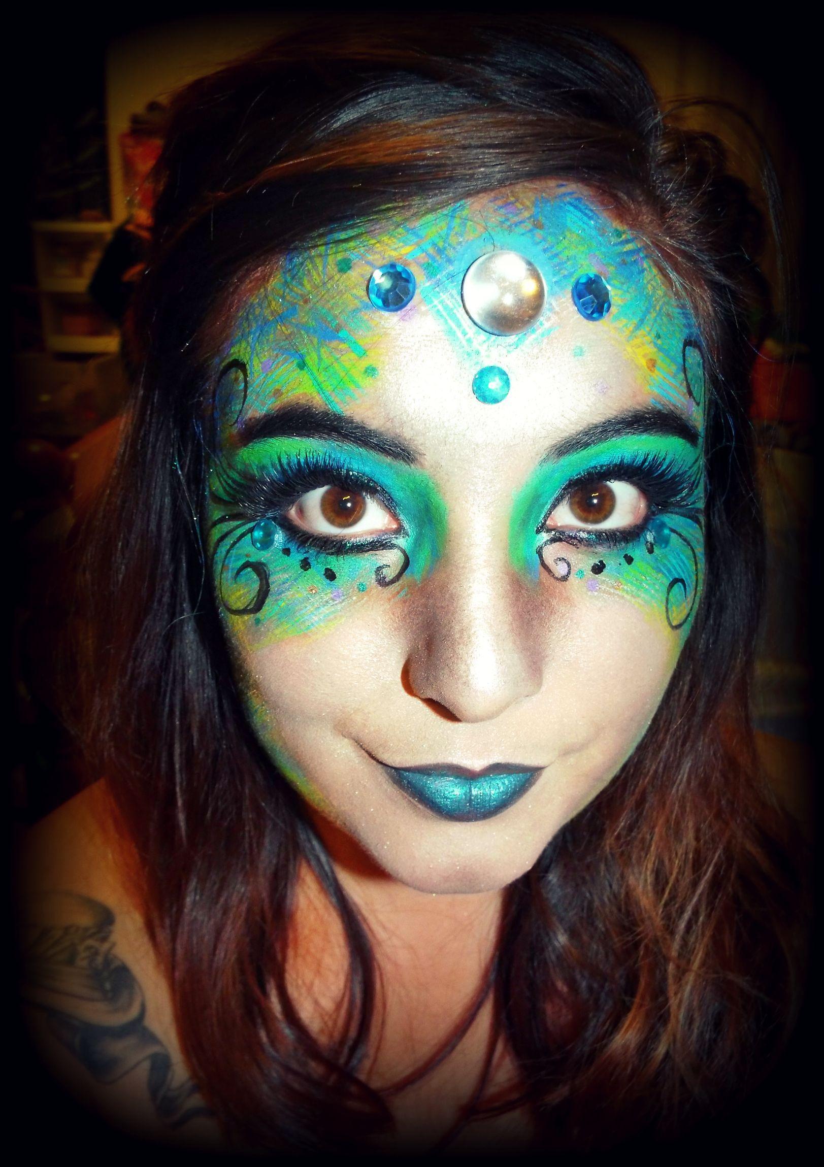 Evil mermaid facepaint evilmermaid mermaidfacepaint
