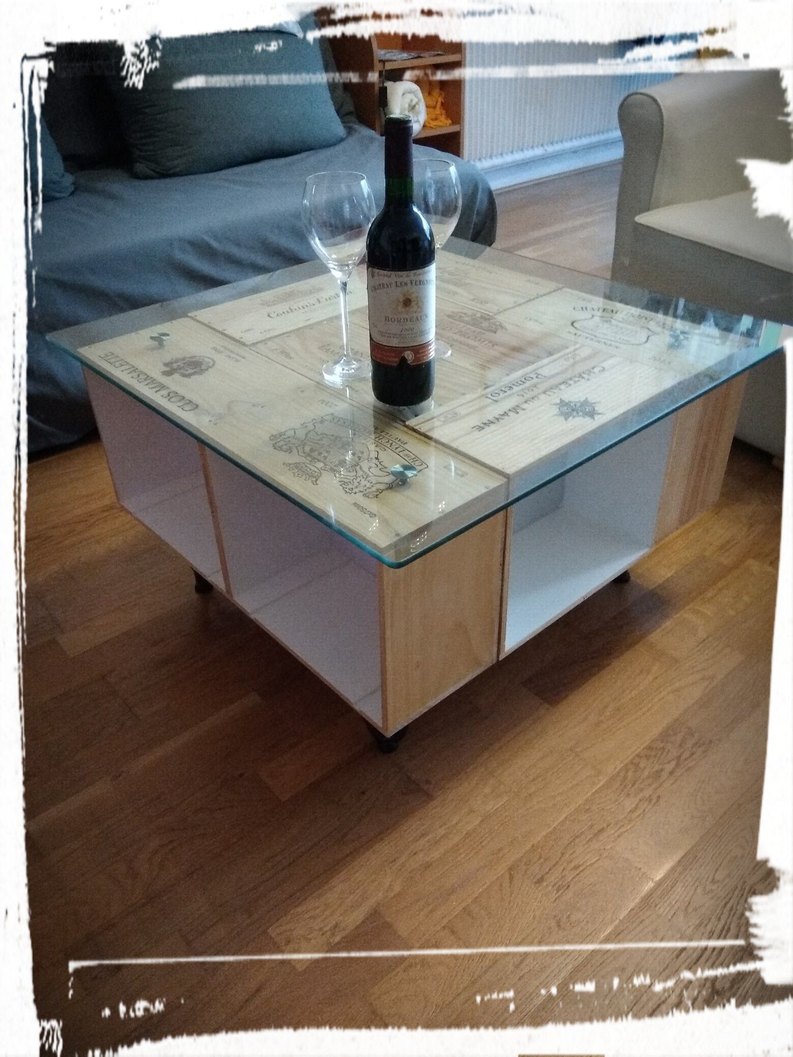 Table Basse Caisses De Vin En Bois 80 80 Cm Coffee Table Pallet Coffee Table Table