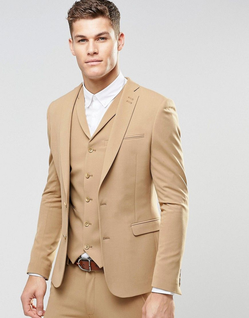 ASOS Super Skinny Fit Suit Jacket In Camel - Beige | My wedding ...