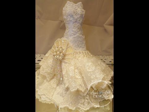 precioso tutorial para hacer vestido de novia de muñeca con papel