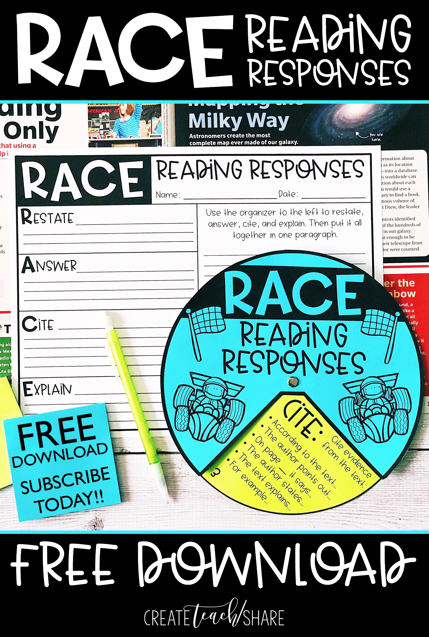 This Race Wheel And Graphic Organizer Are Perfect For