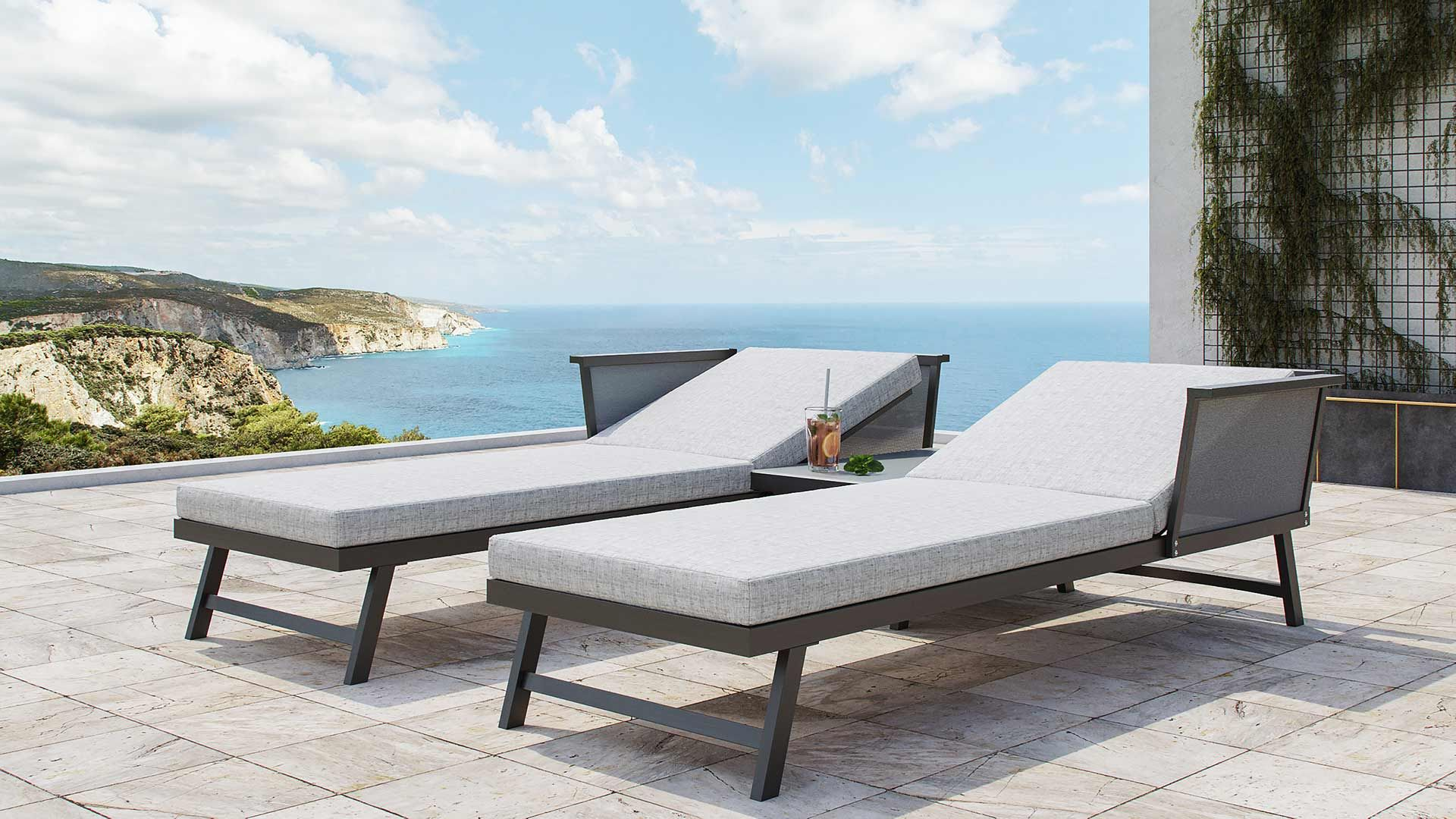 Morino Salon De Jardin Aluminium Salon De Jardin Lounge