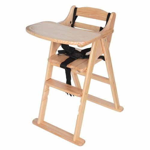 Safetots Putaway Folding Wooden Highchair 3 Colours Baby Wood High Chair