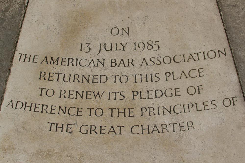 magna carta memorial inscription