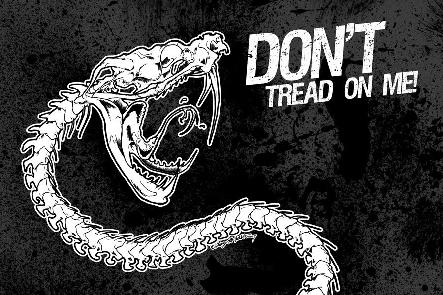 Pushead wallpaper Dont!) Tread on Me Illustration by