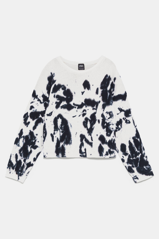 Tie Dye Sweatshirt Sweatshirts Woman Zara United Kingdom Tie Dye Sweatshirt [ 2880 x 1920 Pixel ]