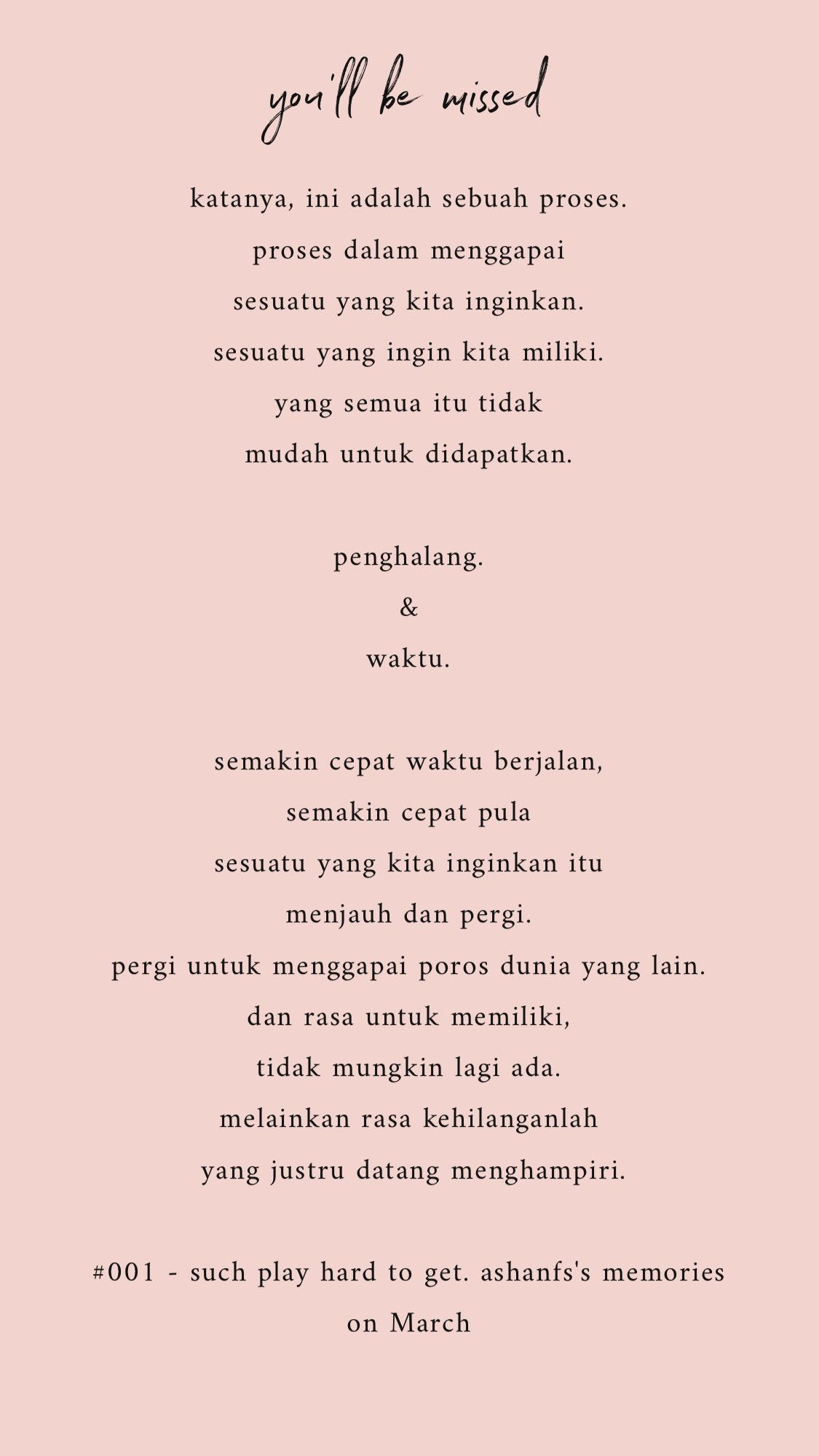 Such Play Hard To Get Tentang Hati Dan Rasa Pinterest Quotes