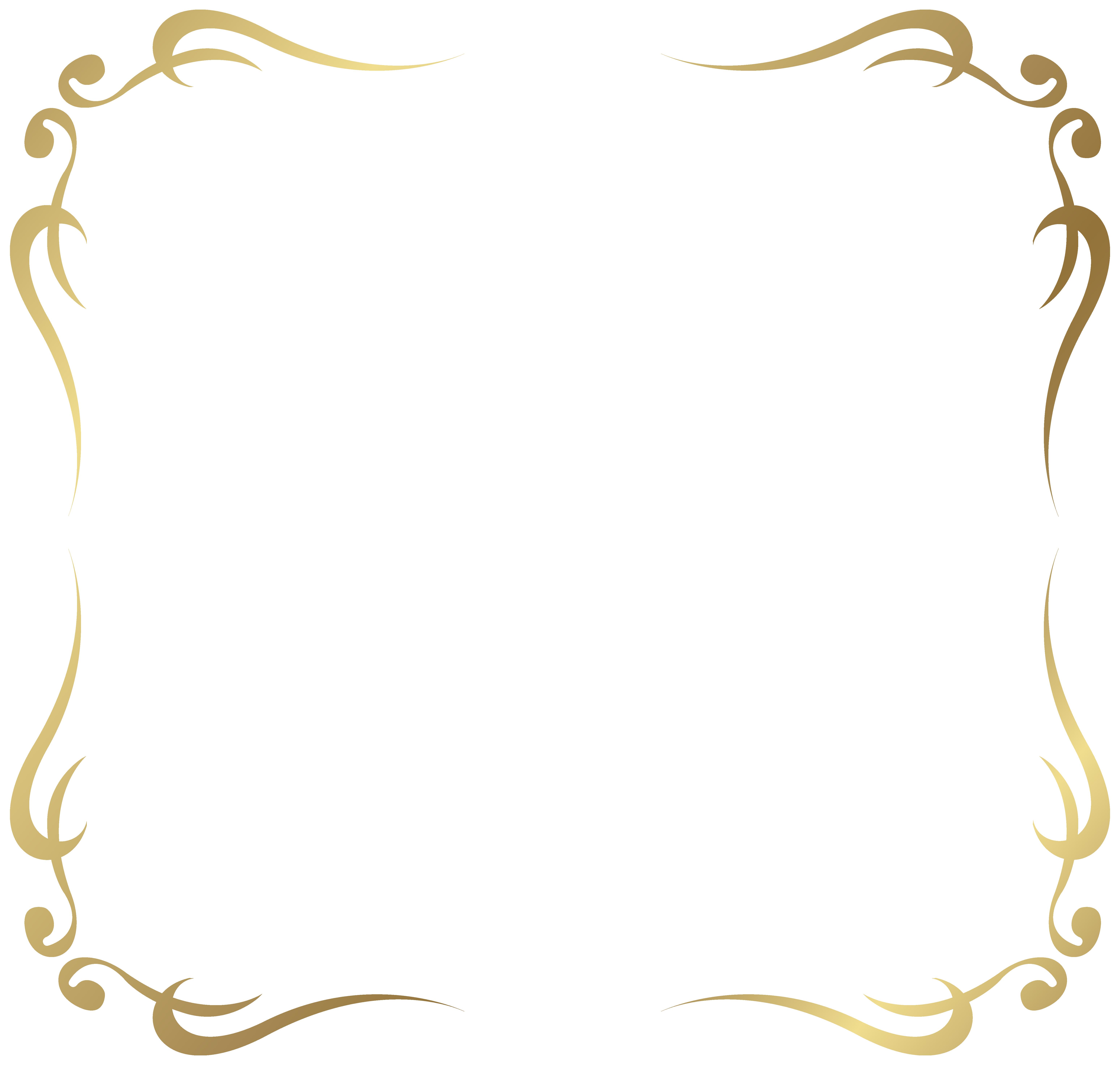 Decorative Picture Frame Border Gold Free Download Png Hd Picture Borders Frame Border Design Picture Frame Decor