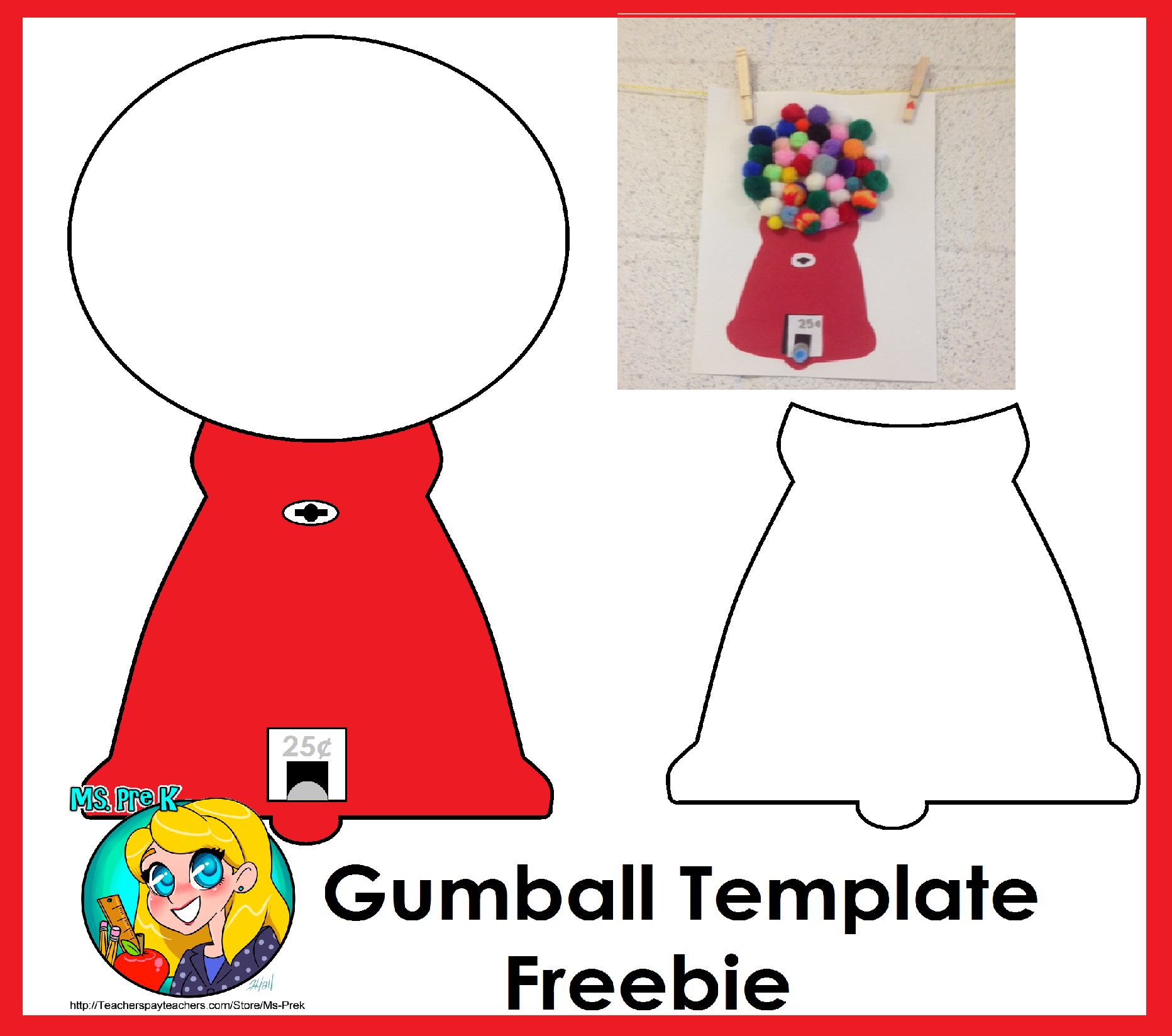 It is a graphic of Persnickety Gumball Machine Printable