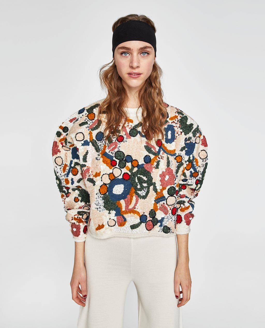 3714606c EMBROIDERED SWEATER WITH SEQUINS-KNITWEAR-WOMAN-NEW COLLECTION | ZARA  United States