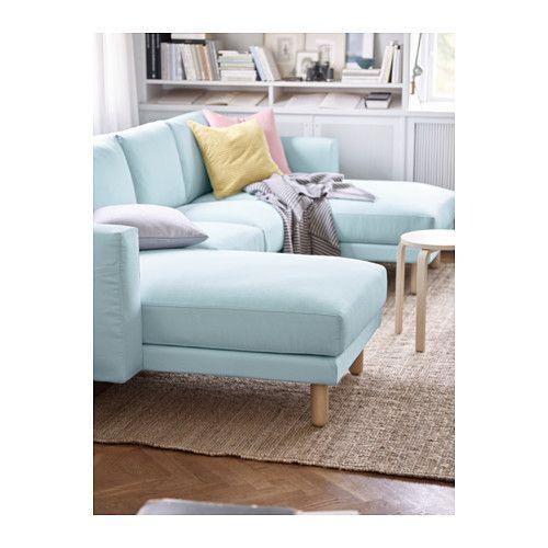 NORSBORG Loveseat with 2 chaises Edum light blue birch IKEA