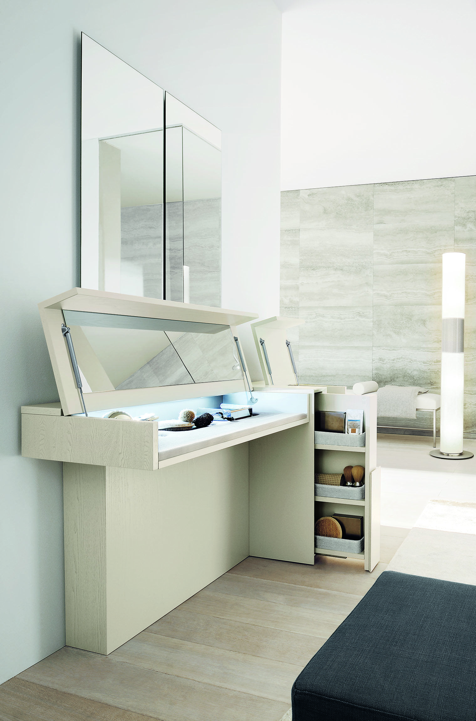 Made In Italy The Fabulous Prestige Dressing Table Ultra Modern With Pull Out Storag Dressing Table Modern Floating Bathroom Vanities Small Bathroom Vanities