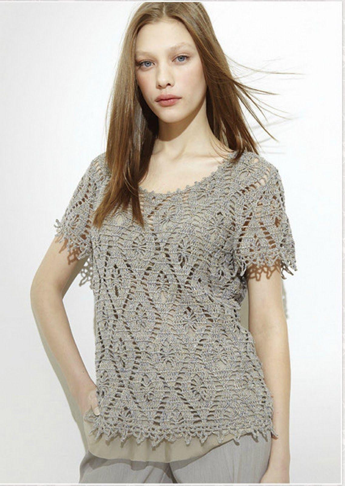 Inspirações de Croche com Any Lucy: Blusa. | blusas | Pinterest ...