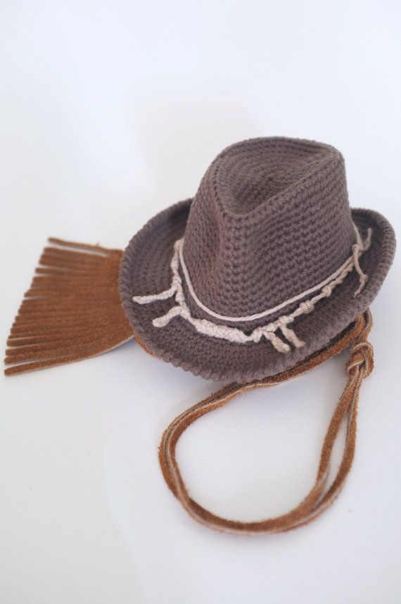 f7ae6ab86d0 Baby Cowboy Hat Newborn Photo Props Baby Boy Shower Gift Crochet ...