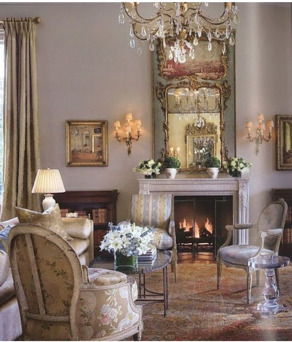 Pin By Foxfire Antiques On Home Living Family Rooms French