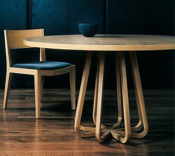 Round Timber Dining Table By Zuster