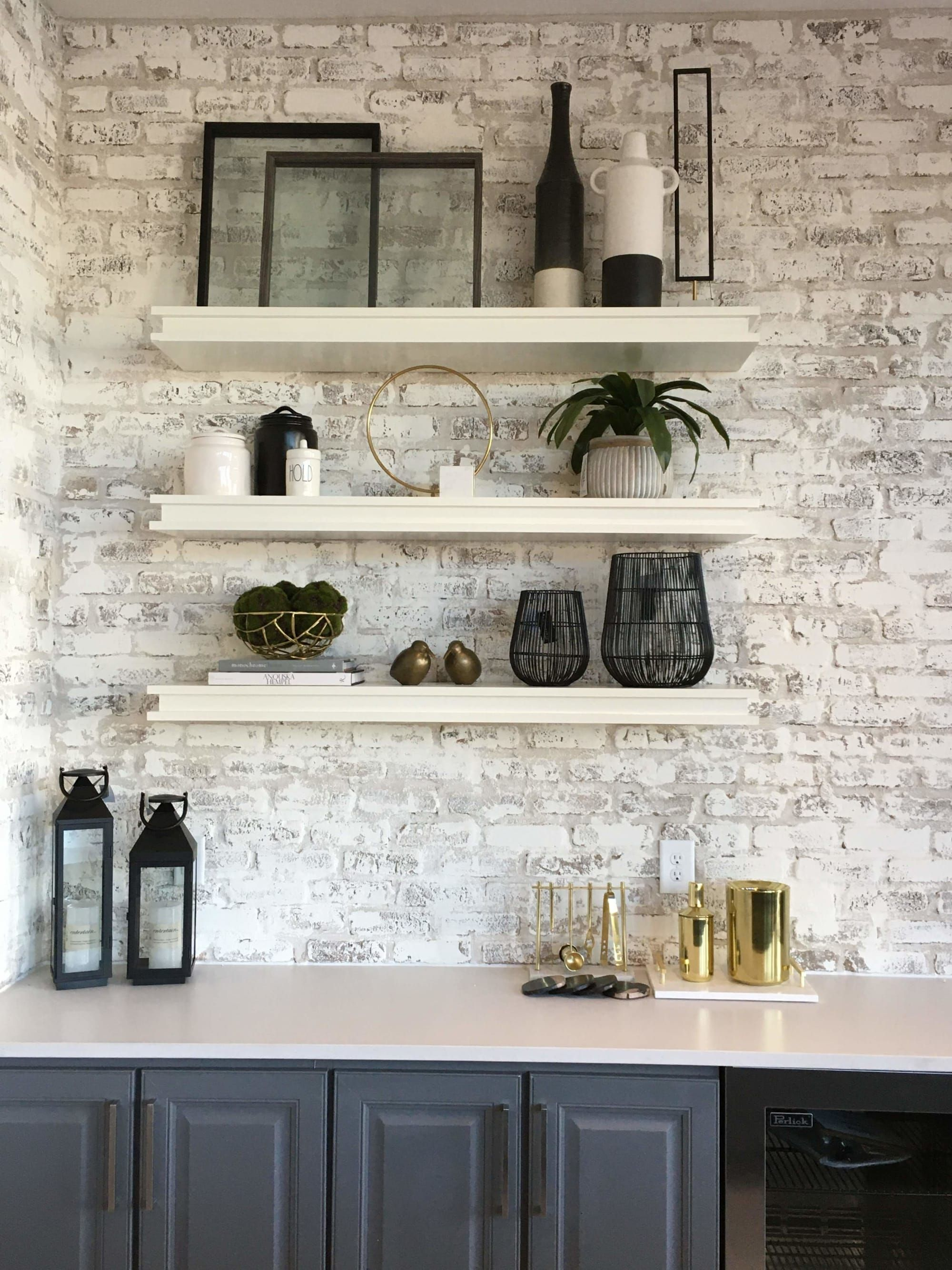 Wall Treatments Whitewashed Brick Accent Wall Brick Interior Wall Brick Wall Kitchen Brick Accent Walls