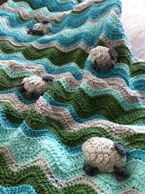 Babydekentje Met Gehaakte Schaapjes Crochetmore Pinterest