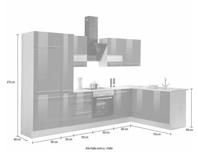 Optifit Winkelküche mit E-Geräten »Bern«, Stellbreite 315 x 175 cm ... | {Winkelküche kaufen 9}