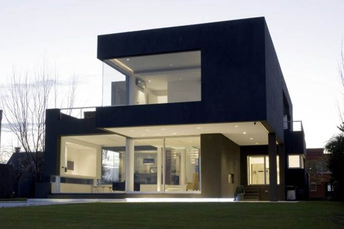 Minimalist Black Exterior Modern Prefabricated Homes Design Ideas