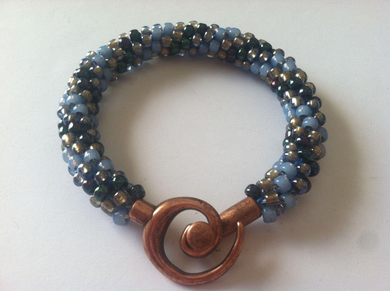 Vintage Blue Onyx Kumihimo Bracelet by CreationsMadeByLola on Etsy https://www.etsy.com/listing/178718241/vintage-blue-onyx-kumihimo-bracelet