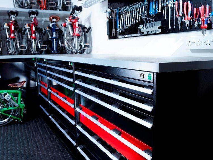 Brompton Bikes Case Study Bott Ltd Garage Design Brompton Garage Storage Organization