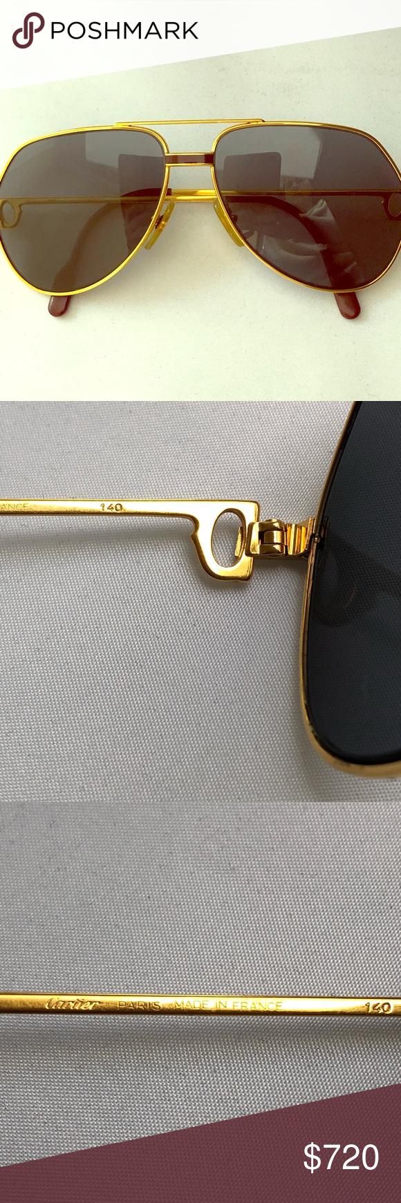 ab35784f24 Cartier Laque de Chine Aviator Sunglasses France Cartier Laque de Chine  Aviator Gold 56Mm Heavy Plated Sunglasses France VINTAGE RARE Cartier  Accessories ...