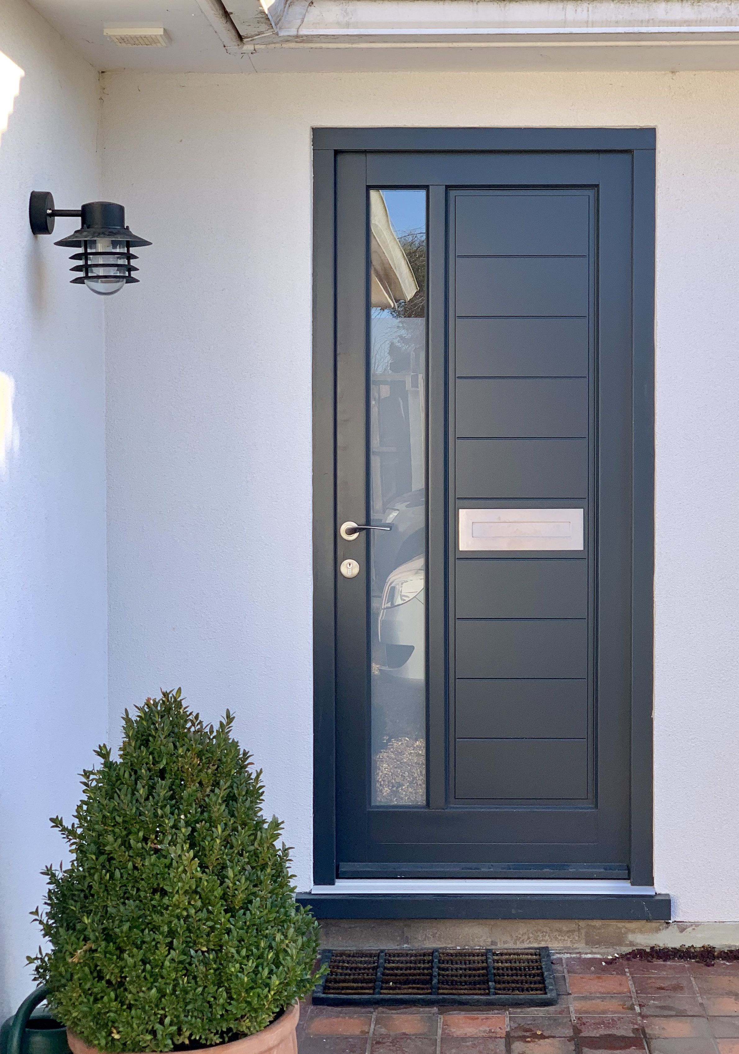 27 Chic Dark Front Doors To Try For Your Entry Shelterness Modern Door Door Design Steel Doors