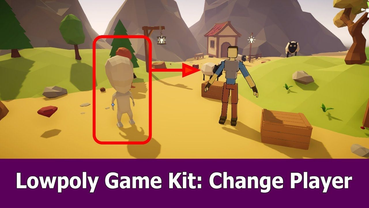 Unity Low Poly Game Kit : Change Thirdperson Player | Game Dev in