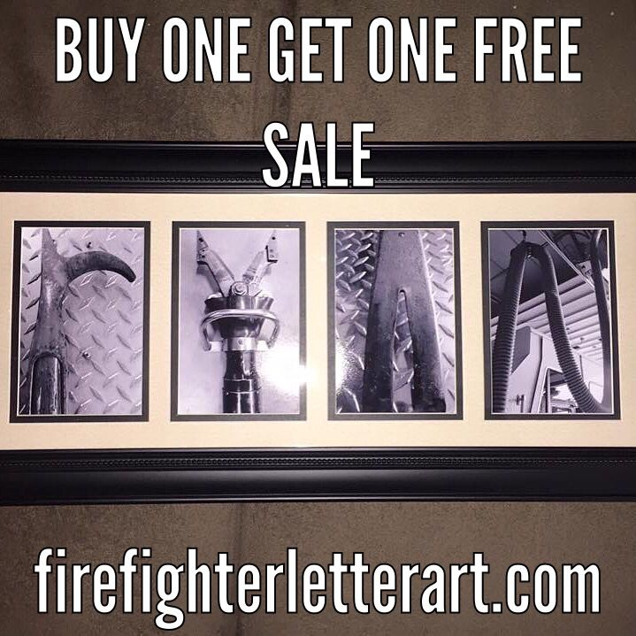 firefighter letter art is the perfect gift for any firefighter