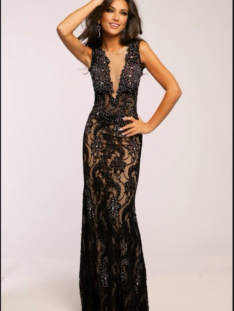 A prom dress....laced with a gorgeous design for any girl