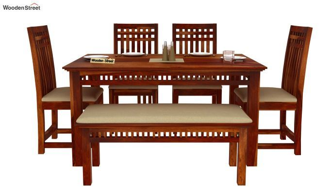 26+ Dining table set with bench india Top