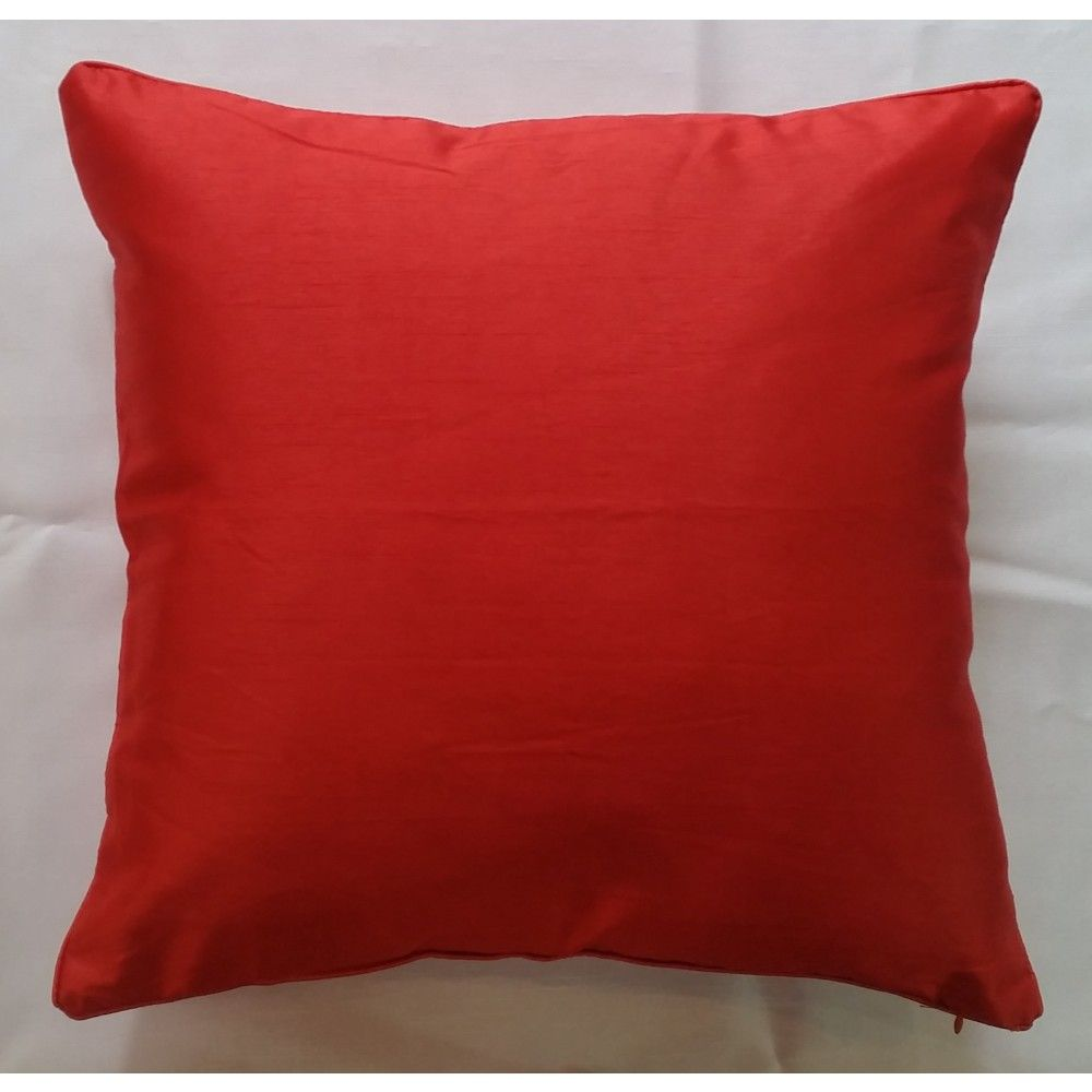 Mode Alive Trinidad Cushion Covers Faux Silk Cushion Covers Red Coral Home