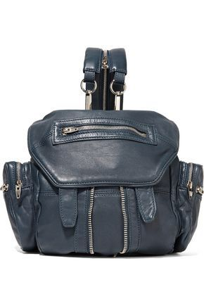 ALEXANDER WANG WOMAN MARTI LEATHER BACKPACK STORM BLUE. #alexanderwang #bags #leather #backpacks #