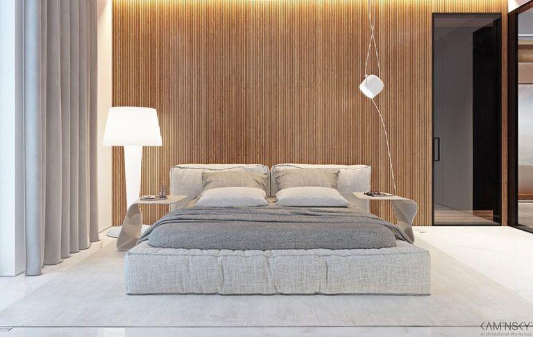 Pareti in legno per la camera da letto idee dal design unico