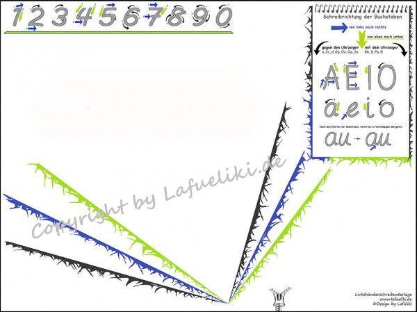 Linkshänder Schreibunterlage für die Schule VARIO left/links