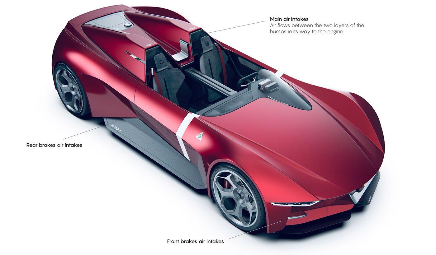 Alfa Romeo Duetto Stradale | Barchetta concept on Behance ...