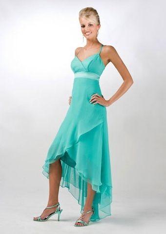 Aqua High Low Bridesmaid Dresses