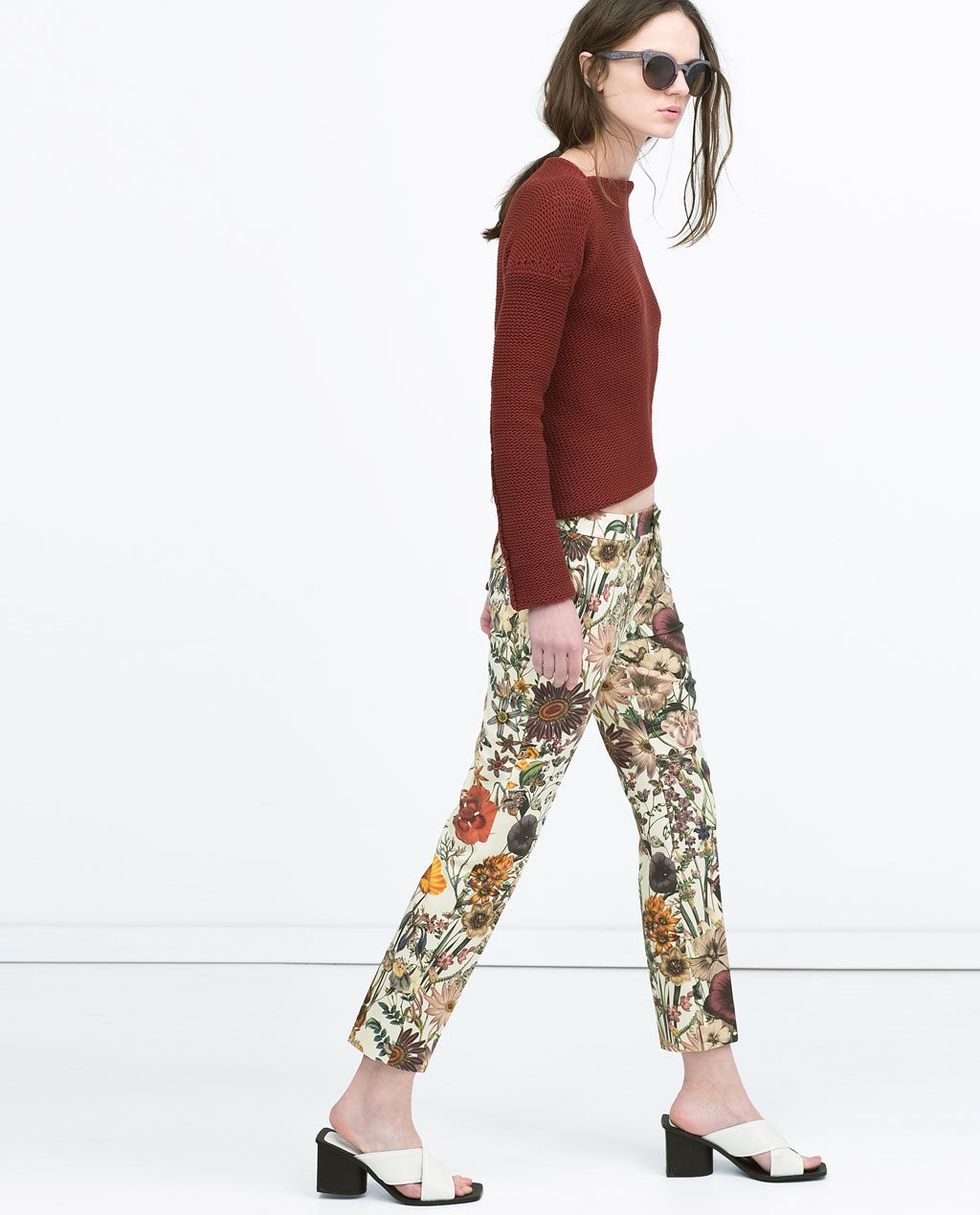 88e5db5c Image 2 of FLORAL PRINT TROUSERS from Zara | Wishlist | Printed ...