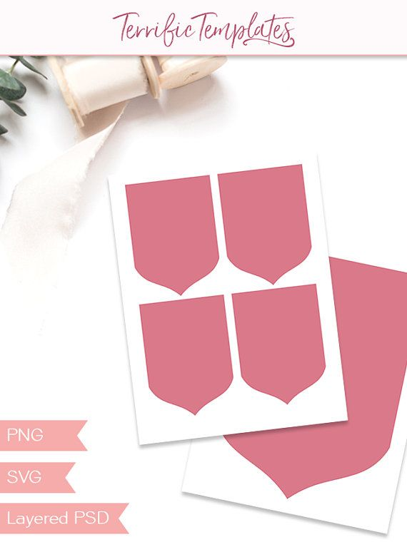 Pennant banner template, party printable craft template, diy bunting