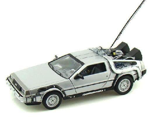 Back To The Future Delorean Time Machine Die Cast 1 24 Silver