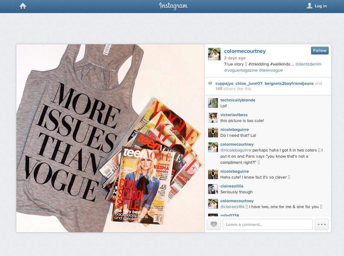 AWESOME Instagram post from colormecourtney!! Get the shirt here: https://www.etsy.com/listing/191010938/more-issues-than-vogue-flowy-tank-top?ref=listing-14