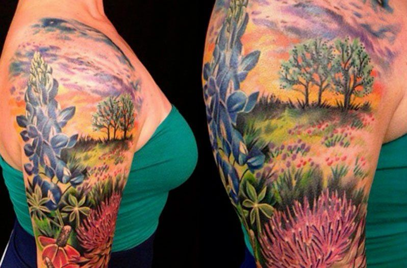 10 incredible texas themed tattoos you have to see life for Georgetown tattoo shops