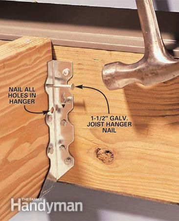 How To Install Joist Hangers Decks Pinterest Deck
