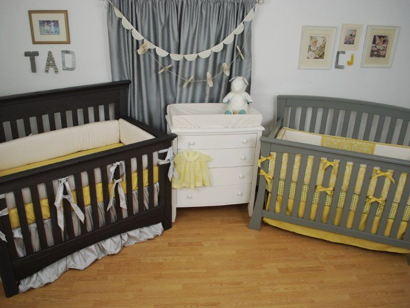 gold crib bedding for boy and girl twins twins nursery pinterest crib twin nurseries and. Black Bedroom Furniture Sets. Home Design Ideas