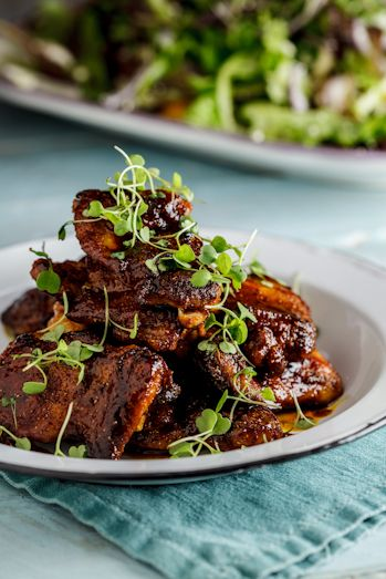 Indian Sticky Chicken - just six ingredients! Spice rubbed, pan fried and finished with caramelizing honey/lemon.